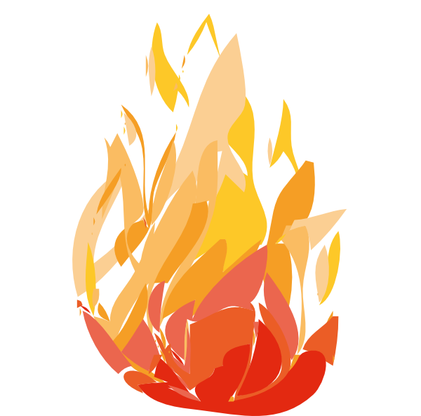 Flame Flame One Clip Art At Clker Com Vector Clip Art