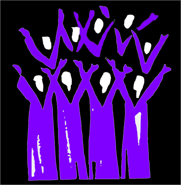 Choir Black And Purple Clip Art at Clker.com - vector clip art online ...