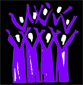 Choir Black And Purple Clip Art