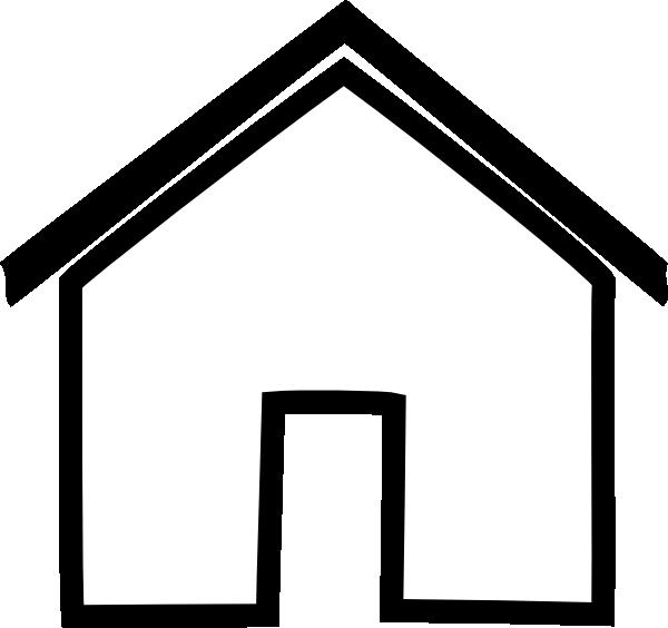 Black House Outline Clip Art at Clker.com - vector clip ...