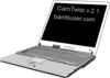Laptop Showing Camtwis And Bambuser Logo Clip Art