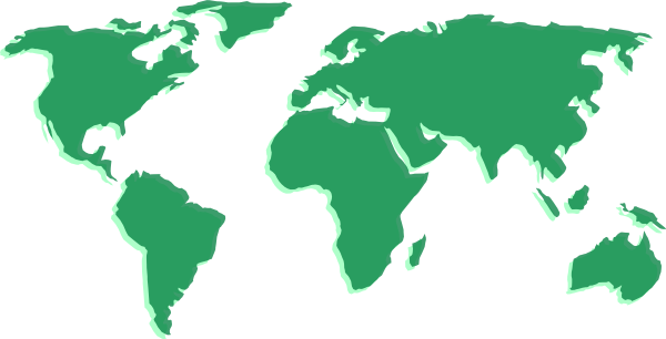 Green World Map Clip Art At Clkercom Vector Clip Art Online - Blank world map green
