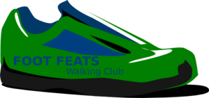 Foot Feats Walking Club Clip Art