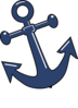 Tilted Anchor W Point Clip Art