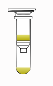 Spin Column Closed With Solution Clip Art