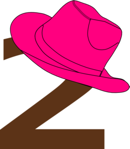 2  Cowgirl Hat Clip Art