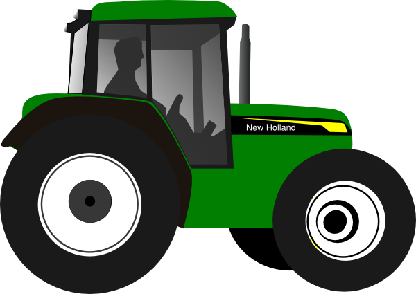 Animated John Deere Tractor Outline : Green tractor clip art at clker vector