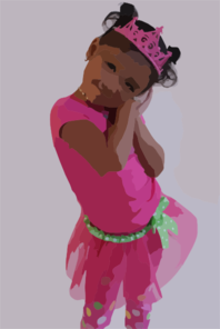 Girl Wearing Crown Clip Art