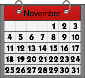november calendar clip art at clker com vector clip art online rh clker com Month of November Clip Art november 2016 calendar clipart