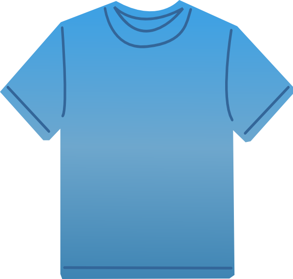 t shirt shape clipart - photo #31