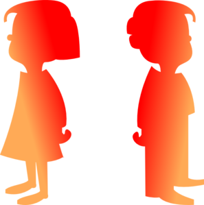 Figures Boy And Girl 2 Clip Art