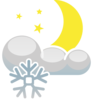Snow At Night Clip Art