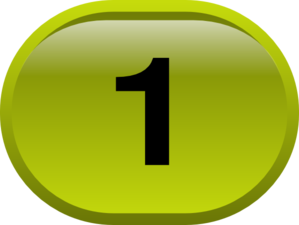 Button For Numbers 1 Clip Art