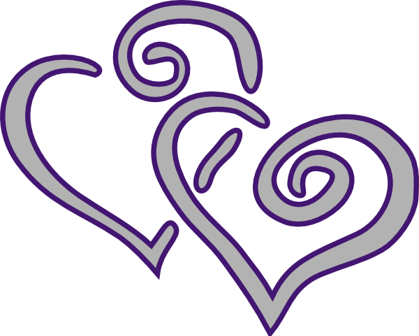 Purple Silver Heart Clip Art at Clker.com - vector clip ...
