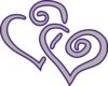Purple Silver Heart Clip Art