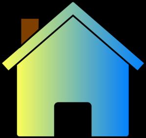 Yellow Blue Fade House 2 Clip Art at Clker.com - vector clip art ...