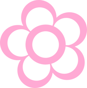 Pink Flower Outline Clip Art