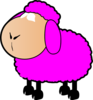 Pink Sheep  Clip Art