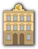 Bank Building With Euro Sign Clip Art