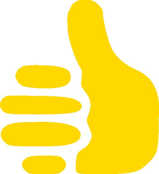 Yellow Thumbs Up Clip Art At Vector Clip Art