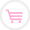 Pink Shopping Cart Icon Clip Art