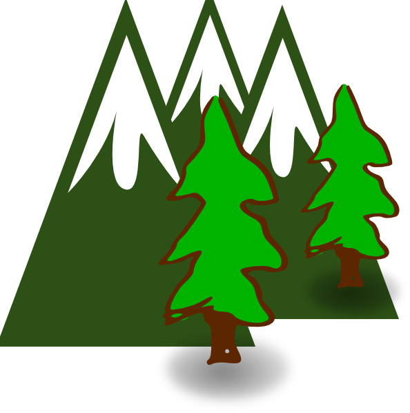 Evergreen Mountains Clip Art at Clker.com - vector clip art online ...