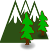 Evergreen Mountains Clip Art