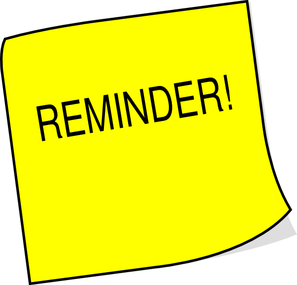 sticky note reminder clip art at clker com