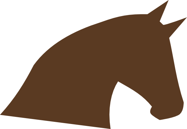 enlarged brown horse head clip art at clker com vector clip art rh clker com  horse head clipart black and white