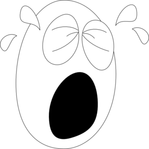 Big Crying Face1 Clip Art