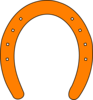 Orange Horseshoe Clip Art