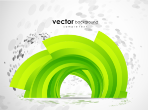 Green Abstract Design Clip Art