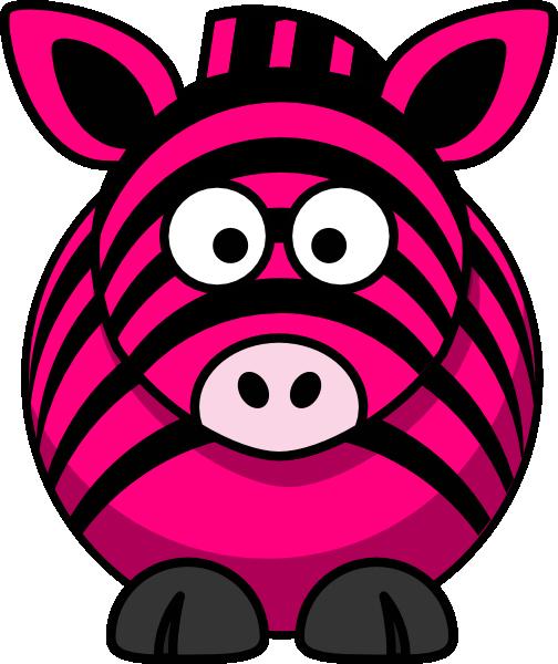 Pink zebra clipart