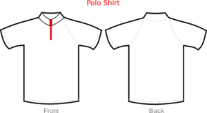 Polo Shirt White With Zipper Clip Art