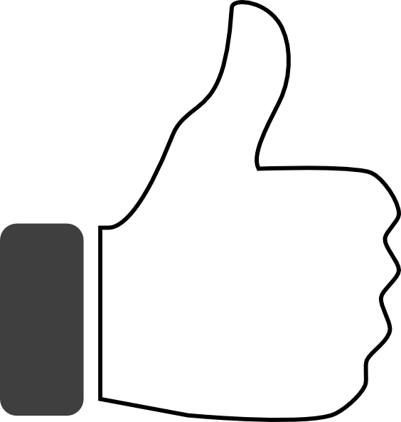Black and white thumbs up clip art at clker com vector clip art