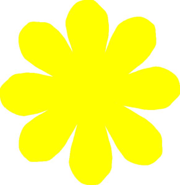 yellow flower clip art at clkercom vector clip art