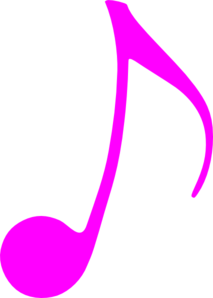 Pink Music Note Clip Art
