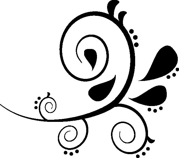 00f3ae13c93 Black Flourish Clip Art at Clker.com - vector clip art online ...