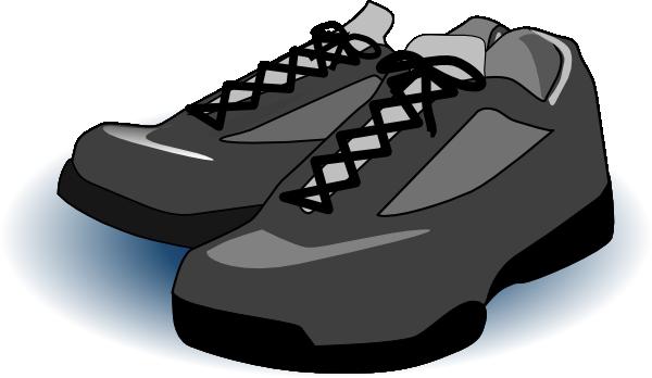 Black Tennis Shoes clip art - vector clip art online, royalty free ...: becuo.com/tennis-shoe-clip-art-black-and-white