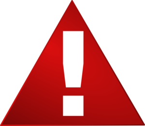 Red Warning Triangle White Exclamation Mark Clip Art