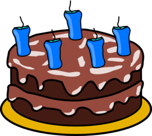Birthday Cake No Flame Clip Art