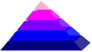 Pyramid With Colors Clip Art