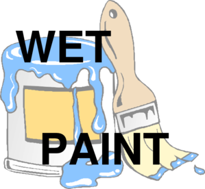 Wet Paint 2 Clip Art