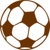 Brown Soccer Ball Clip Art