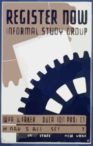 Register Now - Informal Study Group Wpa Workers Education Project, Henry Street Settlement. Clip Art
