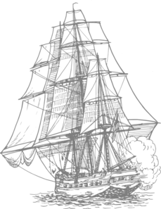 Gray Pirate Ship Clip Art