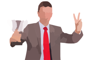 Right Hired Person Sample Clip Art