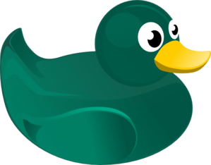 Green Rubber Duck Clip Art
