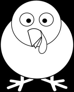 round turkey clip art clip art at clker com vector clip art online rh clker com black and white turkey clip art free turkey feathers black and white clipart