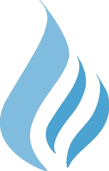 Natural Gas Icon Vector In A Circle